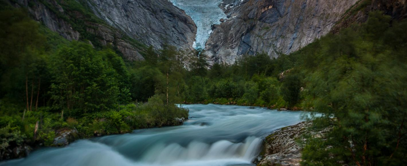Briksdalsbreen Jostedalsbreen Nordfjord Norge